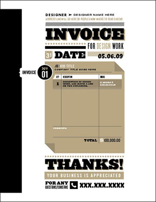 17 Best images about InvoiceQuote Layouts – Best Invoice Templates