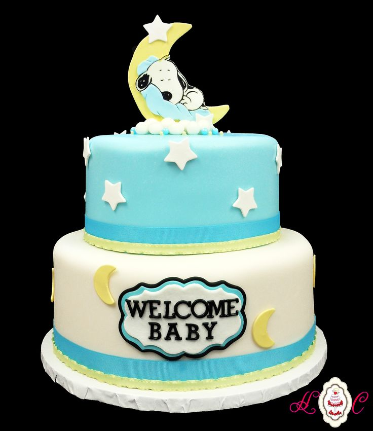Baby Snoopy Baby Shower cake by HC