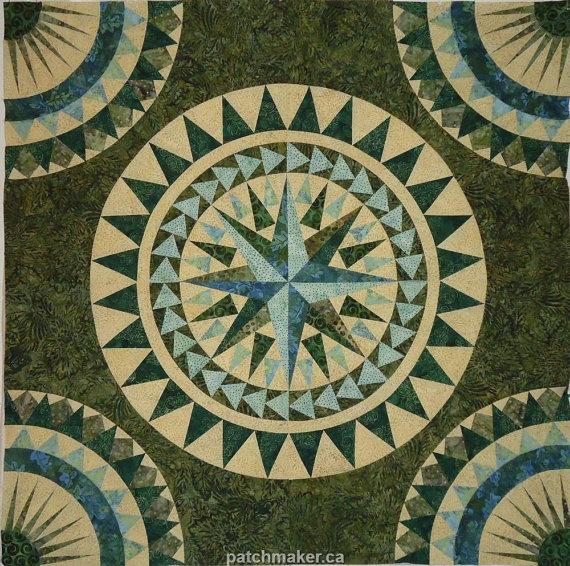 Quilting Patterns Mariner S Compass : 25+ Best Ideas about Mariners Compass on Pinterest Www compass, Compass art and Quilt block ...