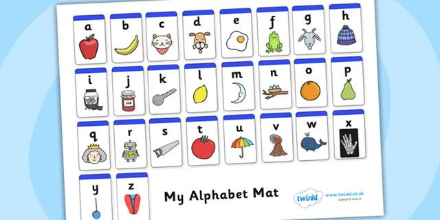 Twinkl Resources Gt Gt A Z Alphabet Mat Phase 1