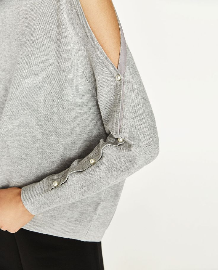 PEARLY OFF-THE-SHOULDER SWEATER-NEW IN-WOMAN | ZARA United States