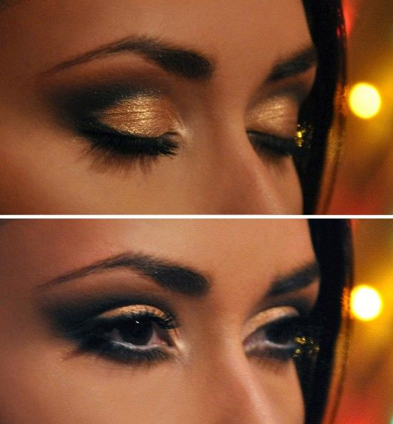 1. Take a shadow brush and take MAC Bronzing Powder in Matte Bronze and put it over entire eye from lid to brow bone. 2. Taking the same shadow brush, use NYX Single Shadow in Antique Gold and place over the entire lid. 3. Again, using the same brush, take the MAC Eye Shadow in [...]