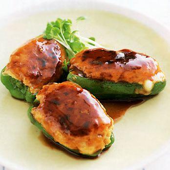 ピーマンのチーズ入り肉詰め   重野佐和子さんの照り焼きの料理レシピ   プロの簡単料理レシピはレタスクラブニュース