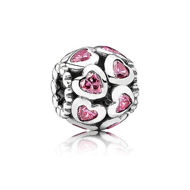 Pandora Love All Around with Pink CZ Charm - my pink bracelet is in sad, sad shape - love all of the new pink #pandora