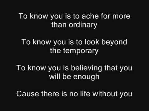 Natalie Grant - You Are My All In All Lyrics | MetroLyrics