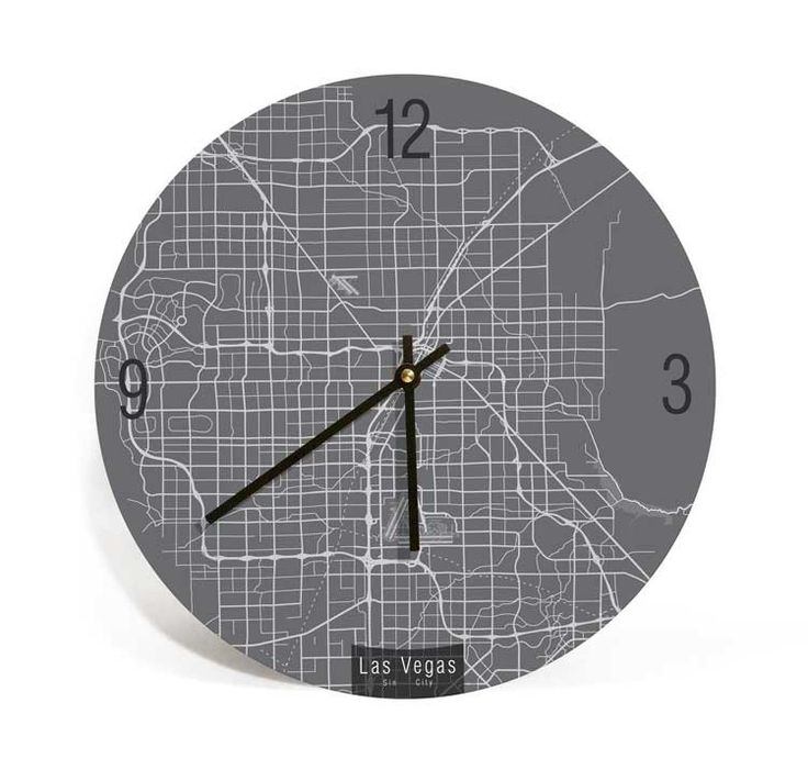 Maryland Map Coordinates%0A Las Vegas  Nevada  Map Art Wall Clock