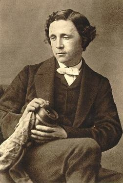"""Lewis Carroll, author of """"Alice In Wonderland"""".  So that's what he looked like!  Now whatever is he holding?"""