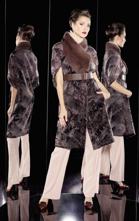 Swakara Lamb & Mink Fur Coat