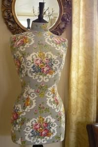 Vintage fabric mannequin to display her favorite dress of the monent #matildajaneclothing #MJCdreamcloset