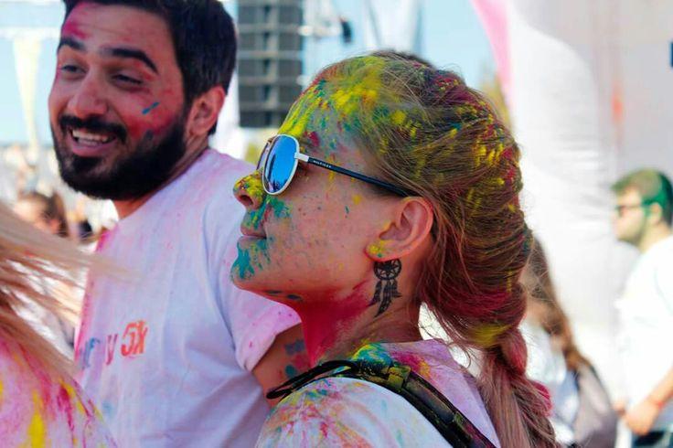 Color sky 5k, renkli koşu, 5km, durma koş, sarı, kırmızı, mavi, pembe, yeşil, tattoo, rüya kapanı, dream catcher, rengarenk, İZMİR