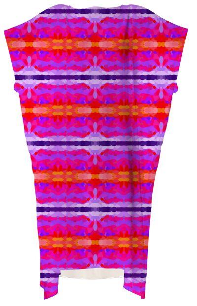 Purple, pink and orange tie dye VP Square Dress