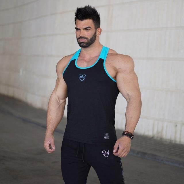 37754538f12df cotton muscle shirt golds clothing tank top men sleeveless tops bodybuilding  stringer vest Mens Fitness