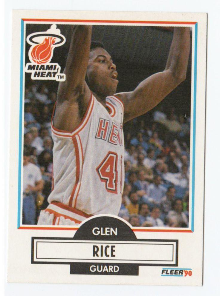 1990 Fleer Glen Rice Rookie Card Miami Heat