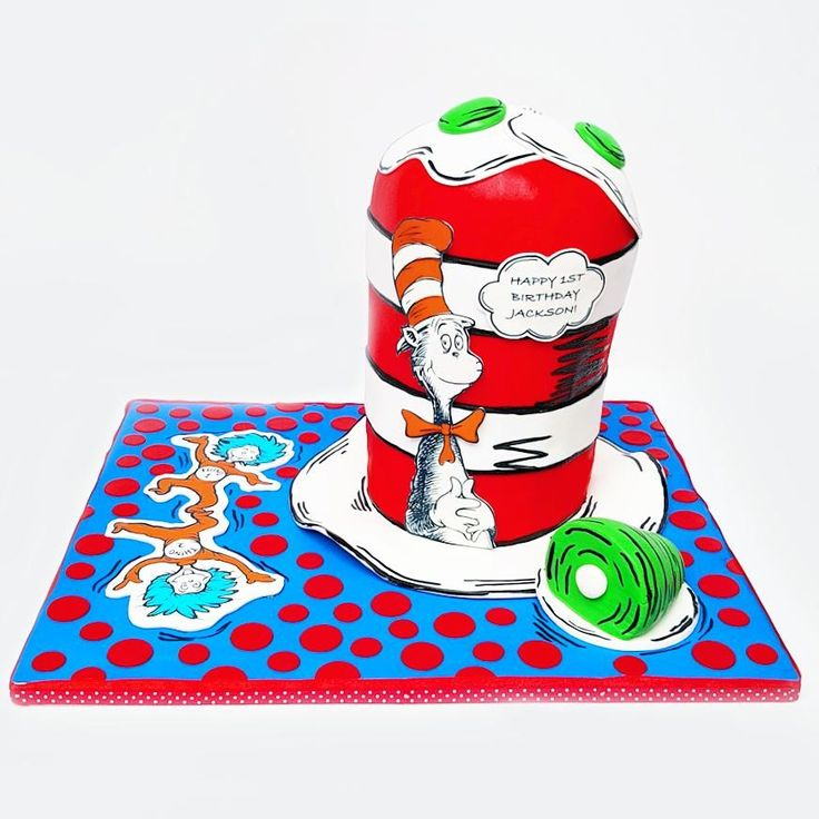 Dr. Seuss Cat in the Hat Cake | Eini & Co.