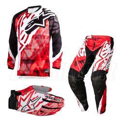 Alpinestars Racer Motocross Kit Combo - Red Black - 2014 Alpinestars Motocross Kit Combos - 2014 Alpinestars Motocross Kit