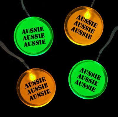 Flashing Aussie Necklace Badge