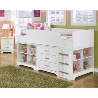 Shop for Signature Design by Ashley Lulu White Twin Loft Bed Set. Get free delivery at Overstock.com - Your Online Furniture Outlet Store! Get 5% in rewards with Club O!