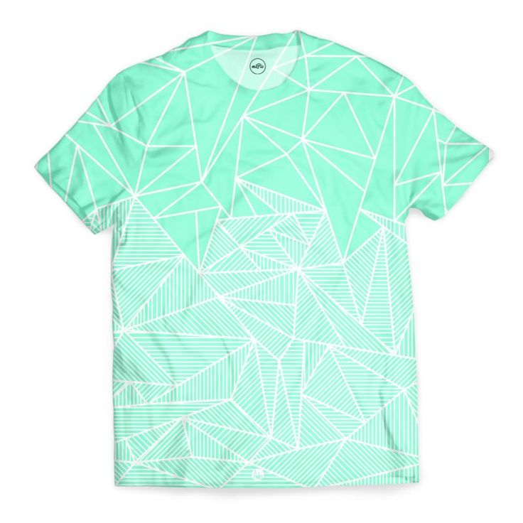 'Becho Rays' T-Shirts by fimbis on miPic  #geometric #gradient #stripes #alloverprint #mint #mintgreen #green #fashion #style #lifestyle