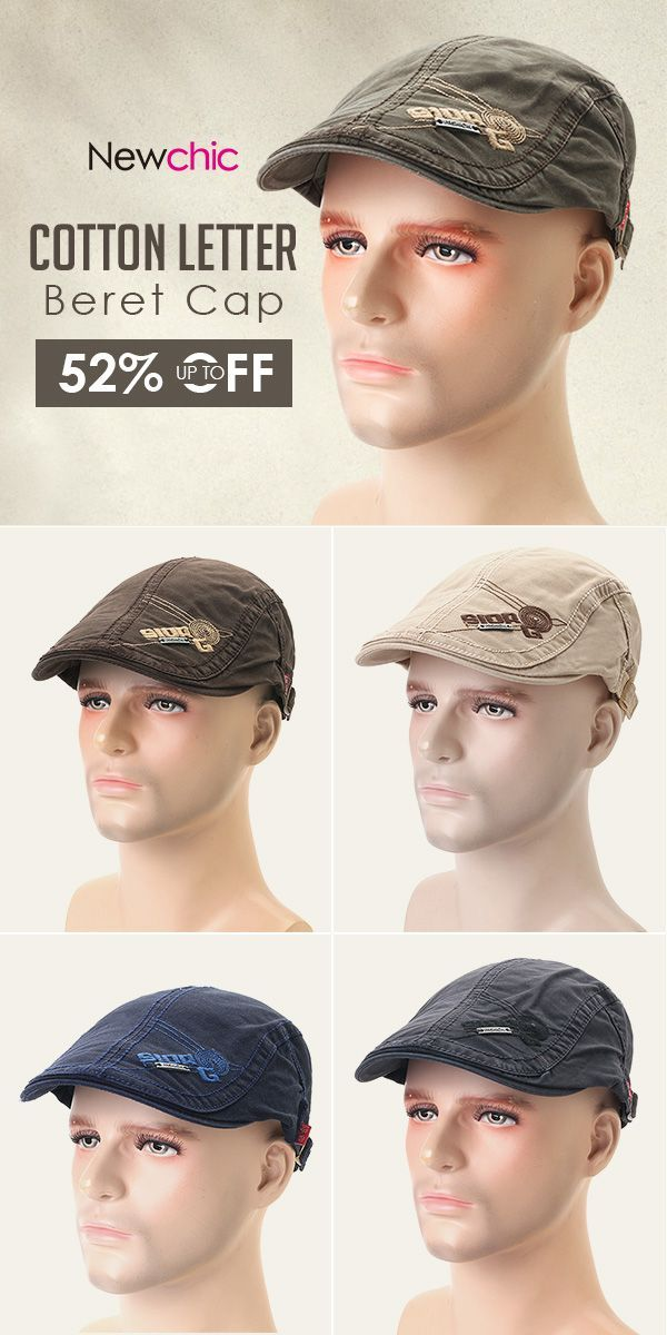 Online Shopping  Embroidery Cotton Beret Cap  Forward Hat  outdoor   outfits   5f7b3e012
