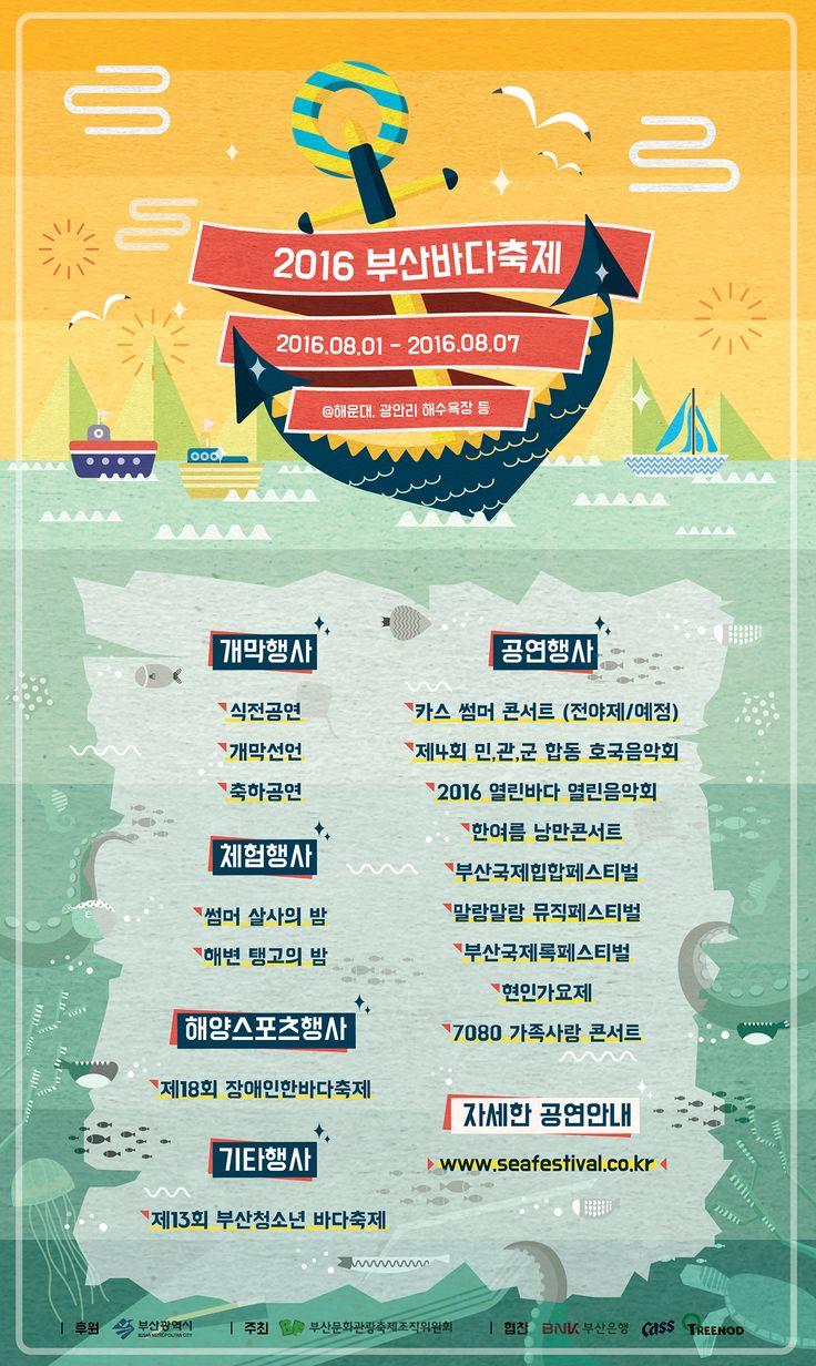 Busan Summer Festival Poster Redesign on Behance #포스터 #Poster #Festival #페스티벌 #축제 #Busan #부산 #Sea #Underwater #Fish 8일