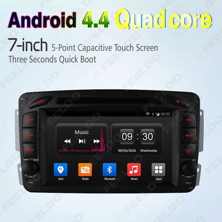 """7"""" inch Android 4.4.4 Quad Core Car DVD GPS Radio Head Unit For Mercedes Benz Vaneo Viano/Vito/CLK W209 #CA2782"""