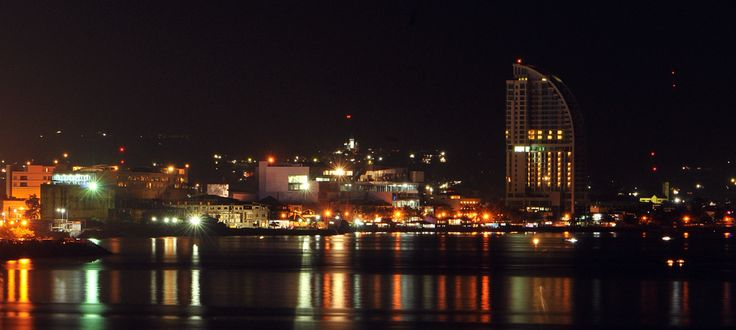 Manado in the ninght, North Sulawesi, Indonesia