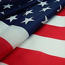 American Flag: 3x5Ft Printed Stars and Stripes Polyester US Flag/ Office Flags with Two Grommets
