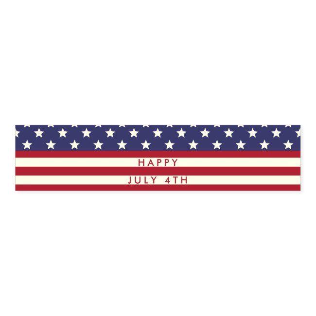 American Flag Stars And Stripes 4th Of July Custom Napkin Bands Zazzle Com In 2020 Custom Napkins American Flag Stars American Flag