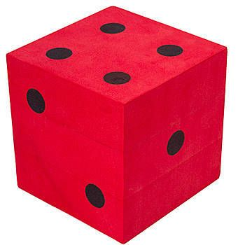 Create a winning centerpiece with this Red Foam Die with Black Dots. The the Red Foam Die has black dots and measures 4 3/4 inches square. Sold individually.