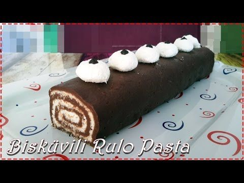 Bisküvili Rulo Pasta Tarifi - YouTube