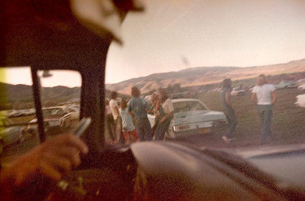 Pulling into the lot, Grateful Dead show, Park City, UT, 9/4/83 via Matt Sweeney  so rad