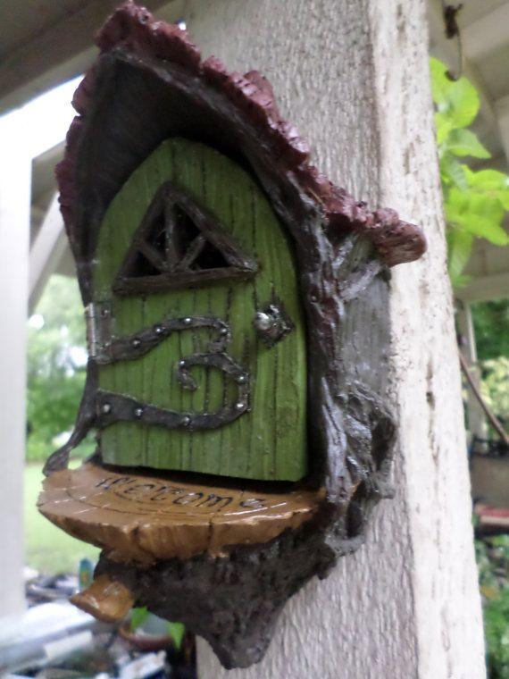 Enchanted Fairy Door Fairy Tree Door Miniature by WaWasGarden