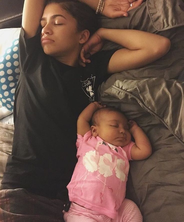 How cute is #Zendaya and her niece?! #adorable #babies #sleeping #naptime #love #family #sweet
