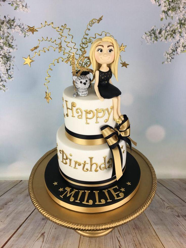 27 wonderful picture of golden birthday cake golden