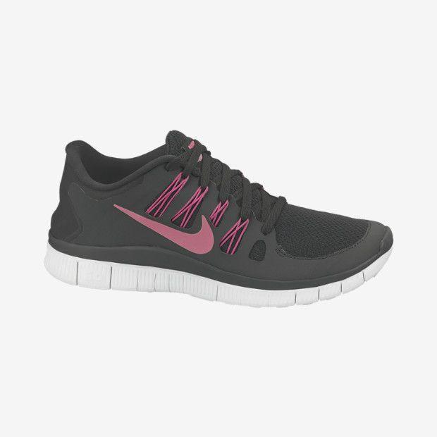 womens nike free run 5.0 pink black