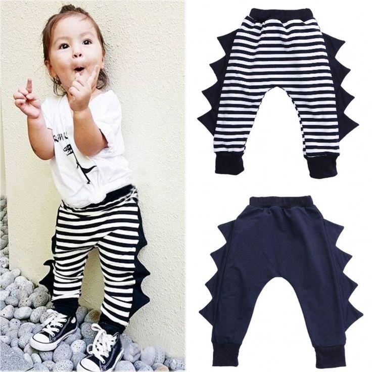Muchachas de Los bebés de Rayas Pantalones Harén Pantalones Niño Niños Pantalones de Chándal de dinosaurios 0 4Y en Pantalones de La madre y Los Niños en AliExpress.com | Alibaba Group
