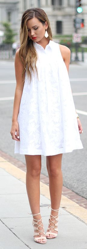 White Tank Little Dress by For All Things Lovely