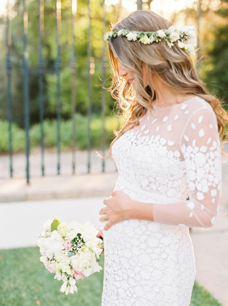 Radiant pregnant bohemian bride: Photography: Love Is My Favorite Color - http://www.loveismyfavoritecolor.com/