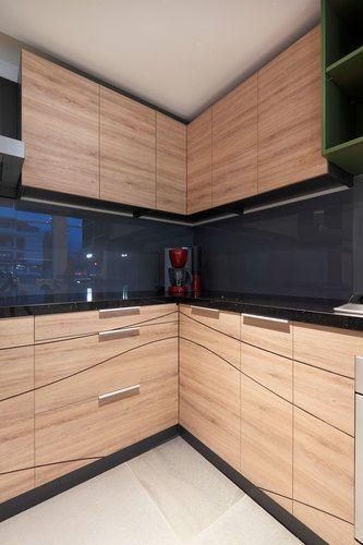 Salpicadero y respaldo de cocina de vidrio serigrafiado gris - Cocina de Hielo Sur Diseño