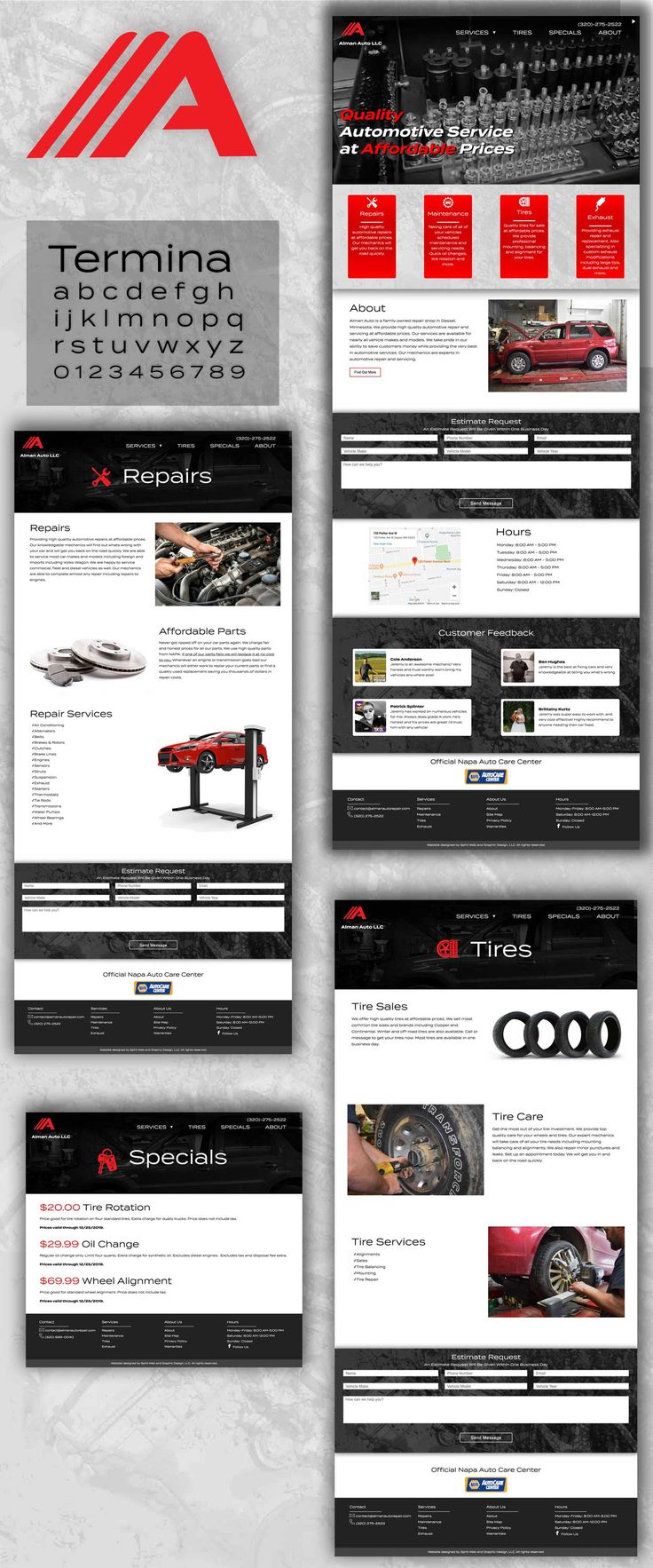Automotive Website Design and Development for Alman Auto