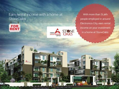 While other apartment buildings are still a couple of years away from completion - Stone Oaks - a premium apartment project on Hosa Road, near Electronics City will be ready for hand-over by March 2016!. Start earning monthly rental income immediately. Invest wisely, Invest in a home at Stone Oaks. Last few CORNER 3BHK Apartments available! For a Site Visit & Project Brochure Call: +91 76760 09999 or visit http://neevavantgarde.com/luxury-apartments-hosur-road/stoneoaks/