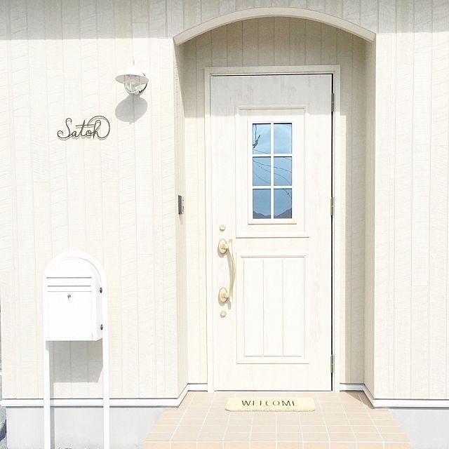 玄関 入り口 ポスト 玄関ドア 西海岸 Wtw などのインテリア実例