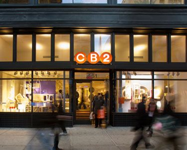 CB2 CB2 stores in Toronto - Hours, phones and locations Here you can find all the CB2 stores in Toronto. To access the details of the store (location, opening hours, CB2 online and current flyers) click on the location or the store name.