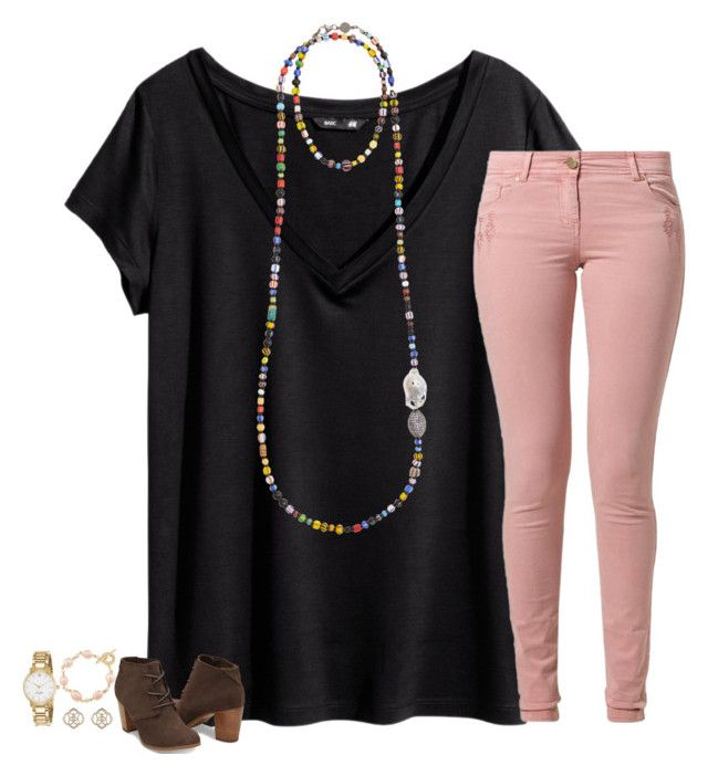 """""""❤️"""" by secfashion13 ❤ liked on Polyvore featuring H&M, Bettina Duncan, Best Mountain, TOMS, Kendra Scott, Kate Spade and Carolee"""