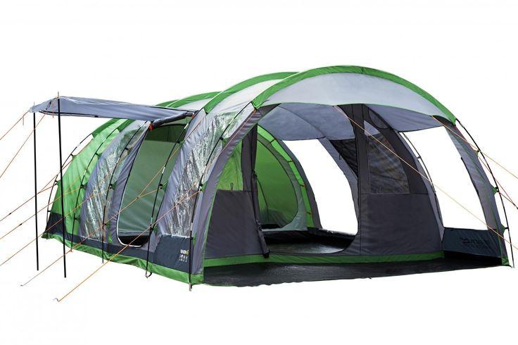 Regatta Tunnel Tent - 6 Man Vanern Family Tent - Green