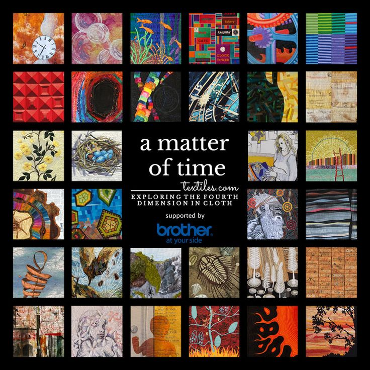 A Matter of Time is a travelling textile art exhibition curated by Brenda Gael Smith on tour in 2016-2017.