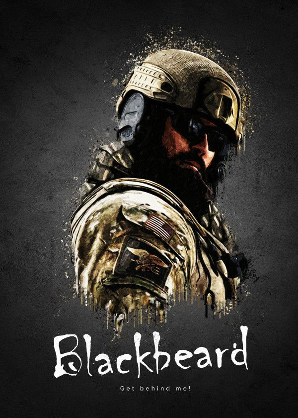 "Rainbow Six Siege Characters Blackbeard #Displate artwork by artist ""TraXim"". Part of a 33-piece set featuring artwork based on characters from the popular Rainbow Six video game. £37 / $49 per poster (Regular size), £74 / $98 per poster (Large size) #RainbowSix #RainbowSixSiege #TomClancy #TomClancysRainbowSix #Rainbow6 #Rainbow6Siege #TomClancysRainbow6 #Ubisoft"