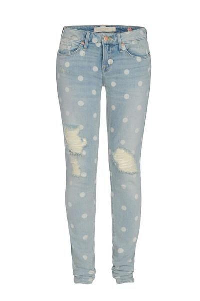Горошек и джинсы в моде
