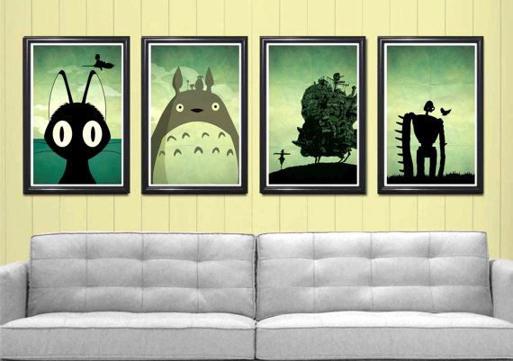 Hayao Miyazaki Art Print Movie Poster Series by posterexplosion, $50.00