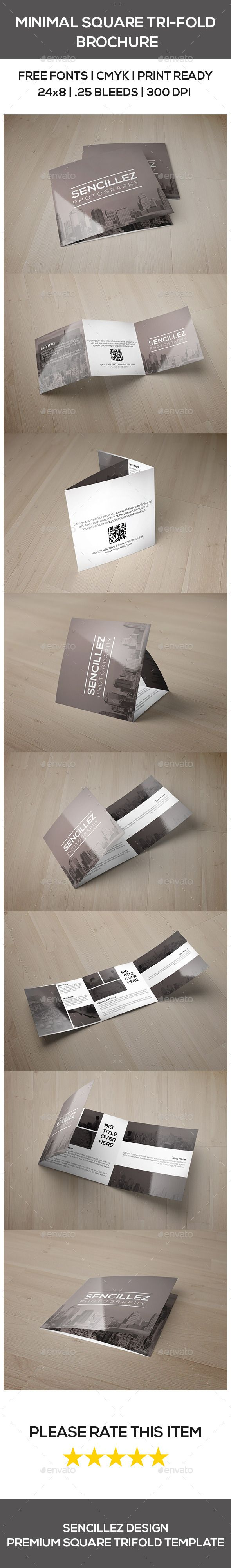 Minimal Square Tri-Fold Photography Brochure Template. Download: http://graphicriver.net/item/minimal-square-trifold-photography-brochure/9741617?ref=ksioks